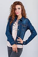 Куртка джинсовая с карманами женская AG-0003162 Синий