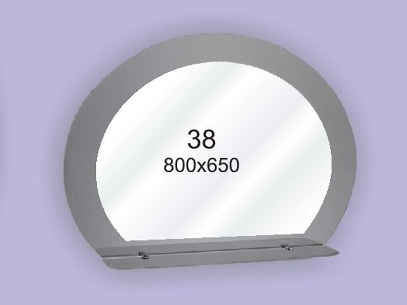 Зеркало с полкой для ванной комнаты ( настенное зеркало) 800х650мм Ф38