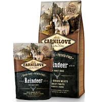 Carnilove (Карнилав) REINDEER Adult Dogs - беззерновой корм для собак всех пород (северный олень),1.5кг