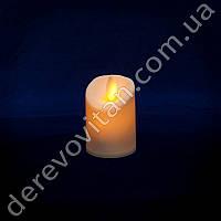 LED-свеча с эффектом пламени, теплый свет, 7 см
