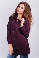 Куртка удлиненная женская с капюшоном, ветровка AG-0003200 Вишневый