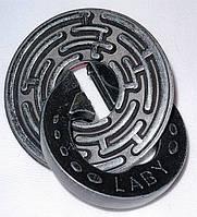 Металлическая головоломка Круговой Лабиринт, Cast Laby