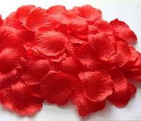 Лепестки роз искусственные для свадьбы, декора красные