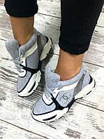 822 Кроссовки класса люкс! Выполнены из натуральной кожи+шерсть обувной трикотаж. Маломерят на размер. Цвет с