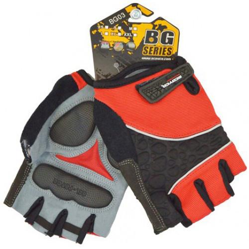 Перчатки BG03 (M) без пальцев, гель