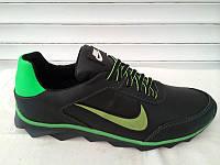 Мужские спортивные кроссовки Nike черно-зеленые