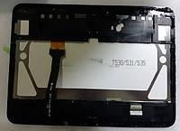 Дисплей для Samsung T530 Galaxy Tab 4 10.1/T531/T535 + touchscreen, черный, с передней панелью, оригинал (Кита