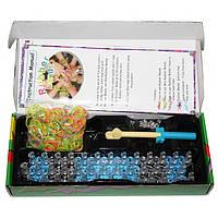Набор для плетения в стиле Rainbow Loom 600 неоновых резинок и усиленный станок