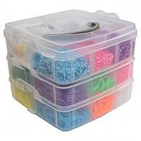Набор для плетения Rainbow Loom Bands 4200 резиночек трехъярусный
