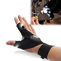 Ліхтарик рукавиця, Фонарик перчатка, для рибалки, освітлення у важкодоступних місцях, тощо..., фото 1