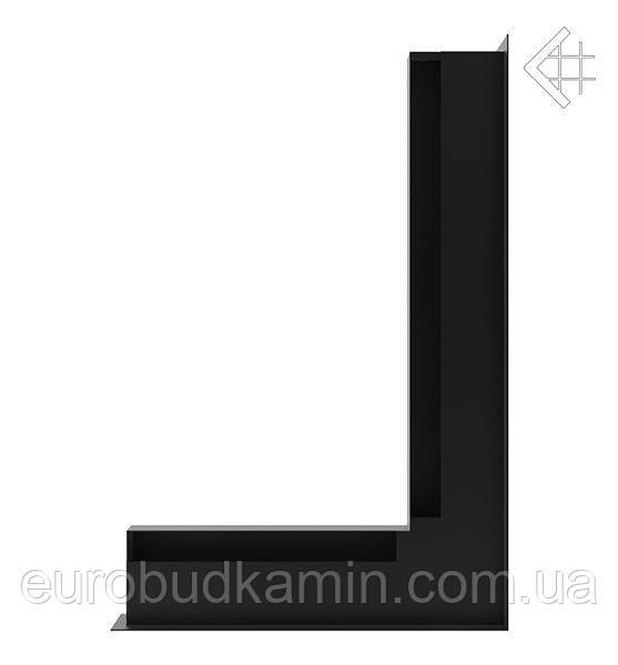 Вентиляционная решетка KRATKI люфт угловой правый 547x766x60 mm - чёрная