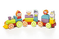 Дерев'яна іграшка Cubika Левеня Поїзд Скарби гномів (12930)