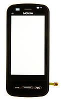 Тачскрин (сенсор) Nokia C6-00 with frame, black (черный)