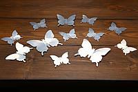 Бабочки для декора интерьера зеркальные