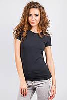 Футболка женская однотонная AG-0003582 Черный