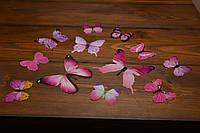Бабочки для декора интерьера розовые