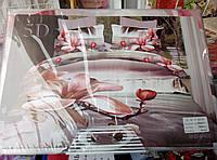 Сатиновый постельный комплект 5Д