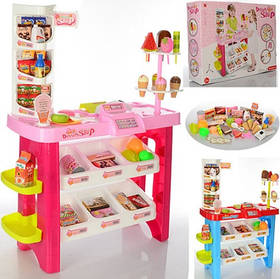 Игровой набор Магазин супермаркет 668-19-21. Со стойкой для мороженного. Сканер со звуком и светом.