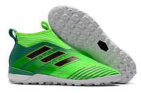 Футбольные сороконожки adidas ACE Tango 17+ Purecontrol TF Solar Green/Core Black/Core Green, фото 1