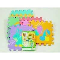 Развивающий коврик-мозаика Bambi M 0376 Фрукты+животные