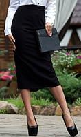 Строгая черная юбка-карандаш