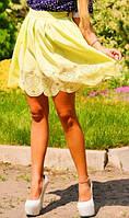 Юбка тюльпан желтого цвета