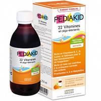 Сироп для здорового физического развития:22витамина и олиго-элемента  Pediakid, 250 мл