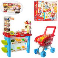 Игровой набор Магазин супермаркет 668-22. С тележкой и сканером. Свет, звук.