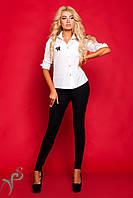 Классическая деловая блузка с элегантной  вышивкой
