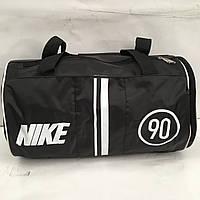 Спортивная сумка Nike черная с среблистым логотипом оптом