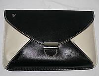 Клатч женский (кожа), 090876-8110 Черный, размер 190*10*