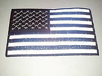 Светоотражающая нашивка Флаг США 6х10 см