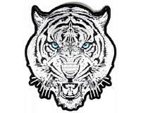 Светоотражающая нашивка наспинник Белый тигр 20х22см