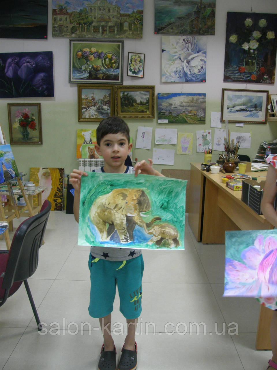 "Картина ""Слоны"""