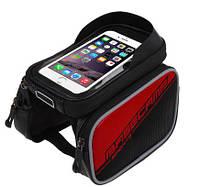 Сумка для велосипеда BaseCamp bc301 тримач смартфону червоний