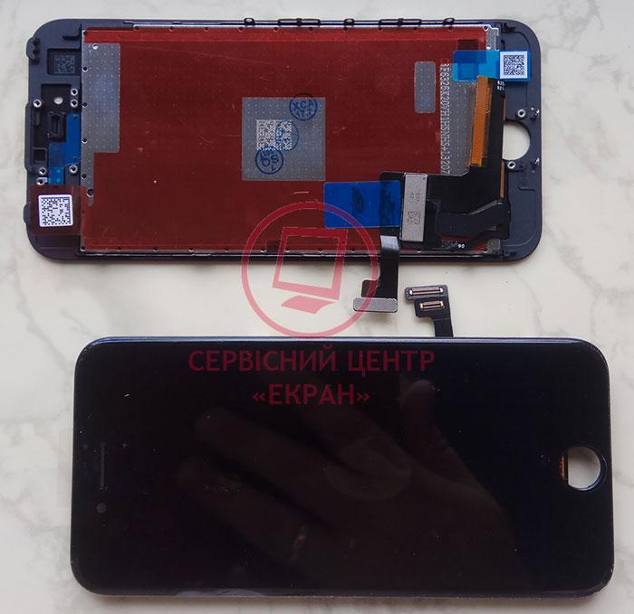 Дисплей модуль iPhone 7 в зборі з тачскріном чорний, оригінал (переклеєне скло)