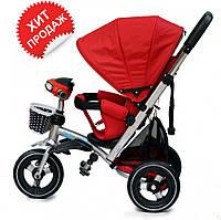 Детский трехколесный велосипед-коляска Baby trike CT-90, надувные колеса, аналог Кроссер Т-350,красный
