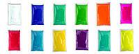 Краска Холи (Гулал), Набор со 100 пакетов, пакет 100 грамм, опт и розница