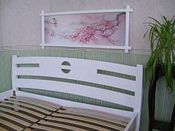 """Деревянная белая кровать """"Сакура"""". 1"""