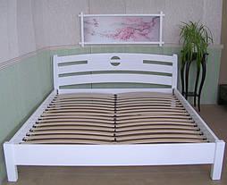 """Деревянная белая кровать """"Сакура""""."""