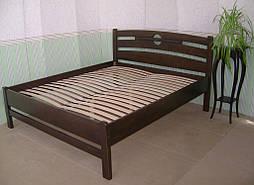 """Высокая деревянная кровать """"Сакура"""". Массив дерева - сосна, покрытие - """"лесной орех"""" (№ 44). 1"""