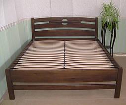 """Высокая деревянная кровать """"Сакура"""". Массив дерева - сосна, покрытие - """"лесной орех"""" (№ 44). 3"""