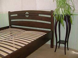 """Высокая деревянная кровать """"Сакура"""". Массив дерева - сосна, покрытие - """"лесной орех"""" (№ 44). 4"""
