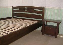 """Высокая деревянная кровать """"Сакура"""". Массив дерева - сосна, покрытие - """"лесной орех"""" (№ 44). 5"""