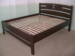 """Высокая деревянная кровать """"Сакура"""". Массив дерева - сосна, покрытие - """"лесной орех"""" (№ 44). 6"""