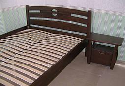"""Высокая деревянная кровать """"Сакура"""". Массив дерева - сосна, покрытие - """"лесной орех"""" (№ 44). 7"""