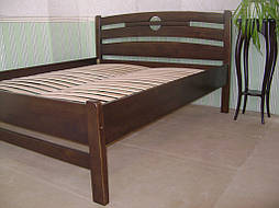 """Высокая деревянная кровать """"Сакура"""". Массив дерева - сосна, покрытие - """"лесной орех"""" (№ 44). 8"""