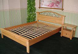 """Деревянная кровать """"Фантазия-2"""". Массив дерева - ольха, покрытие - """"лак""""."""