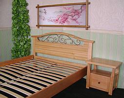 """Деревянная кровать """"Фантазия-2"""". Массив дерева - ольха, покрытие - """"лак"""". 1"""