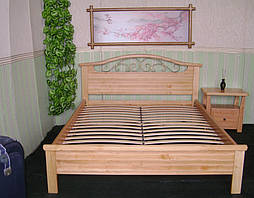 """Деревянная кровать """"Фантазия-2"""". Массив дерева - ольха, покрытие - """"лак"""". 2"""